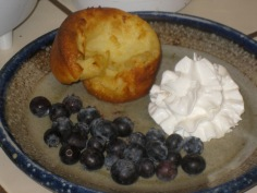 Whipped Cream and Blueberries