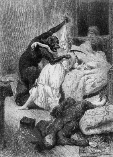 Illustration For Poe's 'The Murders In The Rue Morgue'