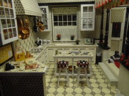 The Miniatures Museum of Taiwan's rendition of an American kitchen.
