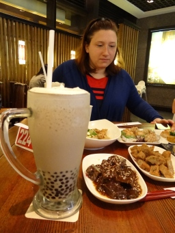 There was a lot of eating done in Taipei, including pig's blood cakes, which weren't that bad, actually. I also completed the milk balboa tea challenge with no trouble. (As if it'd go any other way when you get me near a glass of tea...)