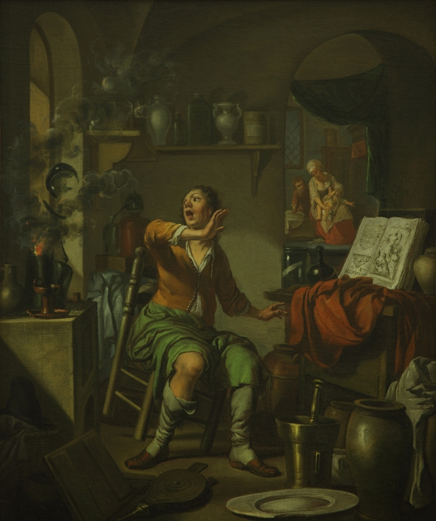 """""""The Alchemist's Experiment Catches Fire"""" by Mary Mark Ockerbloom"""