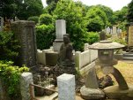 A Japanese Cemetery. Somehow, I find them more peaceful than U.S. cemeteries, likely due to the fact that the most that rests in these graves are the ashes. No bodies.
