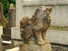 A Japanese Cemetery. Faceless Shinsa.