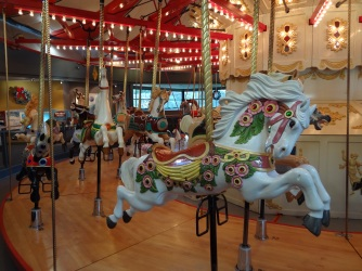 100-year-old Wooden Carousel.