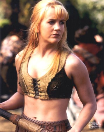 "While the later incarnations of Gabrielle (Xena: Warrior Princess) might not fit the mold of The Innocent to a ""T"", the one pictured here was the perfect ""contrast"" to the dark and dangerous Xena. Her death (and subsequent revival) could show what happens to the Innocent once that most powerful element of their Persona is removed."