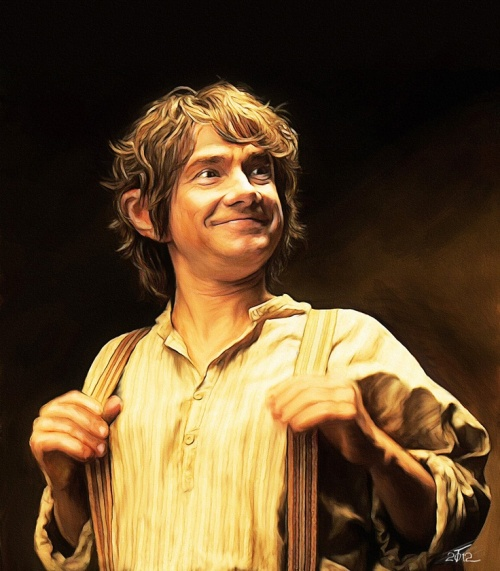 """Bilbo Baggins is a fantasy world's Everyperson. He is not an orphan, starting his story with a secure home and community, but is the """"ordinary"""" on his journey with the dwarves. This makes him somewhat of an outsider, and soon, his motivation is to gain acceptance from his travel fellows. He gains the trust of the others slowly but surely, even though he often has his doubts about the journey altogether."""