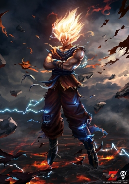 The Hero Archetype isn't just limited to Western stories. Son Goku, of Dragon Ball (based off of Journey to the West) can't seem to go on enough adventures, and is always training himself up for the next conflict. It isn't enough to have beat his foe - he needs to be #1.