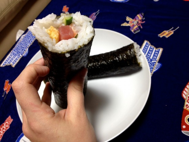 I want two times the luck!!! One was just red tuna, and the larger was a salmon/shrimp/squid/egg mix.