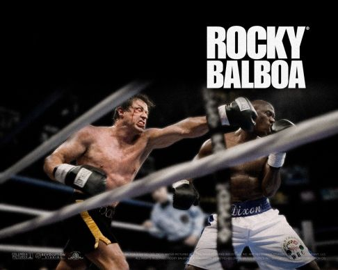 The boxer who just didn't know when to quit (or retire). A masterpiece of sports fiction, the Rocky series shows the pitfalls of a Hero after his initial challenge, and the decay of character a long period of inactivity can inflict.