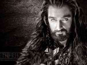 """Thorin is a Hero among dwarves. He is strong, diligent, and virtuous. However, arrogance gets the better of this dwarf when he quests to restore the throne of his father in """"The Hobbit"""", nearly to the destruction of all he holds dear. In the end, he must give up it all to restore his honor, and the balance between the factions at war."""