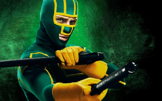 """""""In the world I lived in, heroes only existed in comic books. And I guess that'd be okay, if bad guys were make-believe too, but they're not."""" Kick-ass fights to make his world better as the vigilante superhero of his neighborhood, but his questionable techniques inspire others to do the same, to sometimes deadly consequence."""