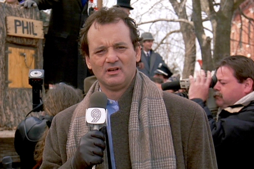 Phil has a black heart at the beginning of Groundhog's Day, and his manipulative attempts to get with his boss Rita end in slaps and slammed doors. However, as the movie progresses, Phil goes from self-centered to generous and passionate individual, taking a new appreciation for life and the people that populate his world.