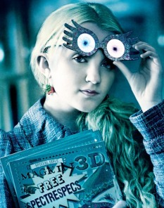 Luna Lovegood has no romantic interest, but she is firmly in the realm of the Lover. She cares more about her friends (visible or not) than anything else, and it is the threat to their safety that spurs her into action to fight.