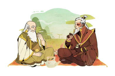 Uncle Iroh, while certainly jolly, is the level head within the Fire Nation, guiding his nephew, and even the other side towards a revolution of peace. His wisdom is so sought after, in fact, that even after his death, he is sought out by the avatars for advice.