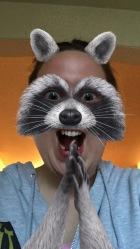 Snapchat: raccoon filter eager evil plot