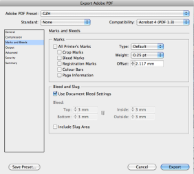 InDesign Export to PDF