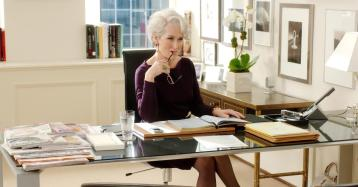"""Miranda Priestly, of """"The Devil Wears Prada,"""" has worked hard to get her position of authority, and fights to keep that control. As a result, she comes off as cold and calculating; nearly like the devil."""