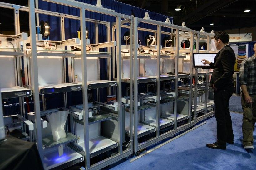 Print Pod setup at RAPID 3D Printing Tradeshow